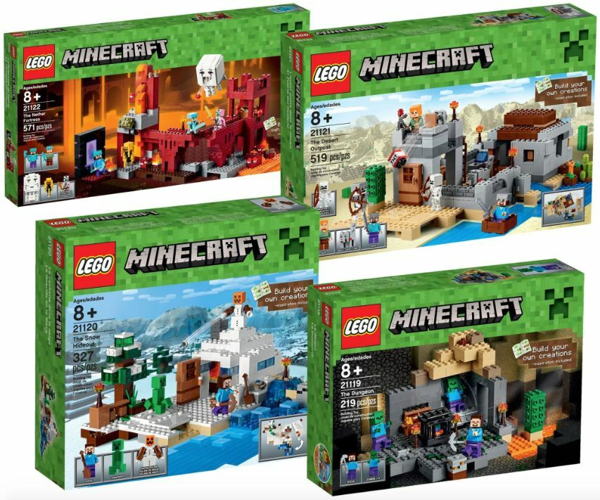 Lego ® Minecraft 5004818 Minecraft ™ Collection nuevo _ New 21119 21120 21121 21122