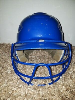 Systematic Rawlings Cfbh Coolflo Baseball Batting Helmet Face Cage 6 1/2-7 1/2 Blue To Help Digest Greasy Food Sporting Goods