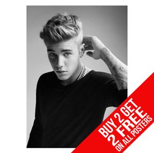 Justin-Bieber-poster-Arte-Impreso-A4-A3-Buy-2-GET-ANY-2-Free