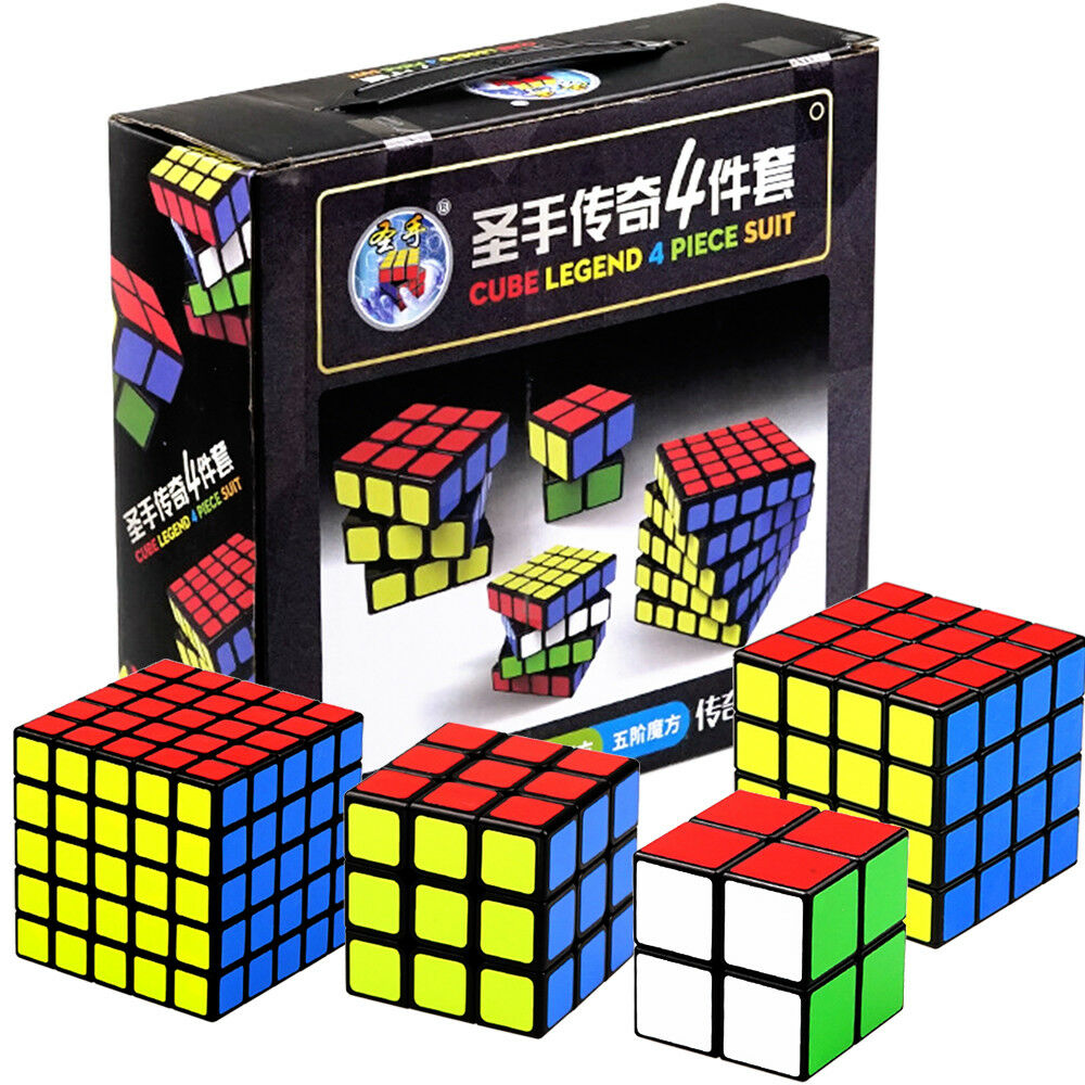 High Quality Kids Toy Gift 4 PCS/set ShengShou 3x3 Magic Cube 333 Rubix Rubic