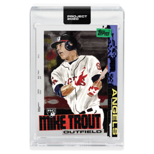 2020 TOPPS PROJECT 2020 #85 MIKE TROUT - BY JACOB ROCHESTER TRUSTED SELLER