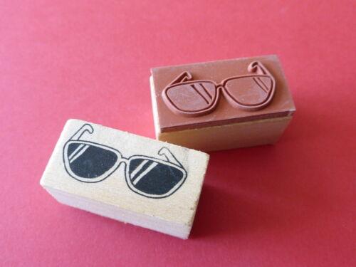 Motivstempel  Sonnenbrille  Stempel  ca:40 x 20 mm Kartengestaltung Basteln