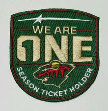 Minnesota Wild 2016-17 Official Season Ticket Holder Jersey Patch - We Are One
