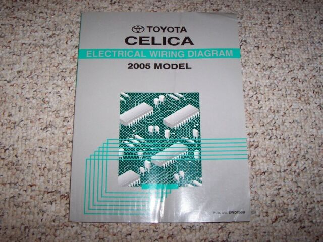 2005 Toyota Celica Electrical Wiring Diagram Manual Gt Gts