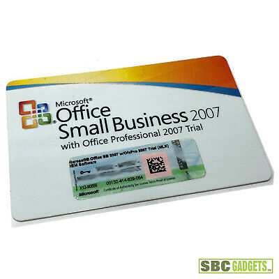 Microsoft Office Small Business 2007 With Office Pro 2007 Trial License Key Ebay