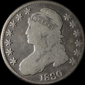 1830 Bust Half Dollar Small O Nice VG 0-116 R.2 Nice Eye Appeal Nice Strike