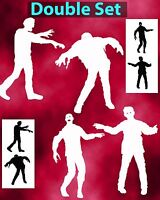 Zombie Silhouettes Double Set Airbrush Stencil Spray Vision Template