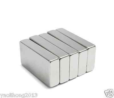 1/2/5Pcs N50 Neodymium Block Magnet 50x25x10mm Super Strong Rare Earth Magnets