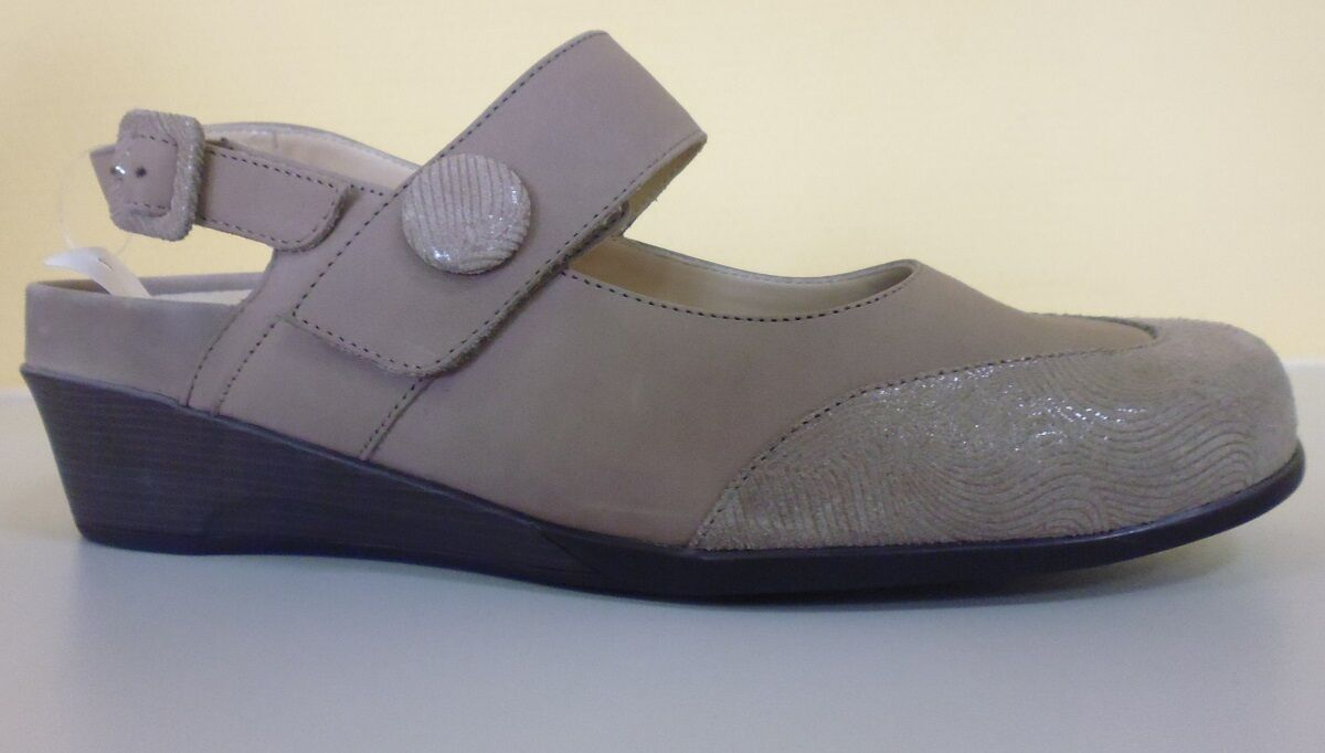Zapatos señora zapatos decorado sandalia sandalia sandalia bosque alfil de cuero, talla 4,5 37,5 WH  venta