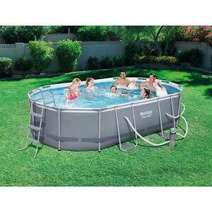 Bestway inflatables power steel oval frame pool 16 foot x - Bestway power steel frame pool ...
