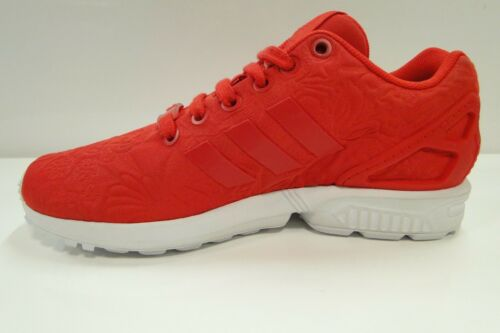 be53dcad017f4 Adidas s76589 Print Vivid Graphic Red Puff Womens Zx Flux Flower Trainers  axrqpwaT