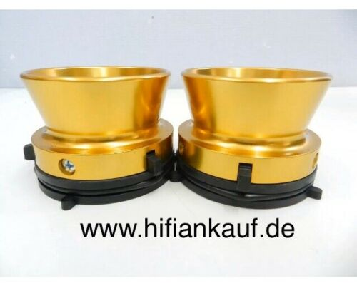 Nab Adapter   ALUMINIUM Kelche-GOLD  Full Set Komplett
