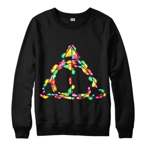 doni della morte Festosa per Adulti /& Bambini Maglione Top Maglione natalizio Harry Potter