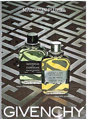 Publicité Advertising 1981 Eau de Toilette pour Homme Givenchy Gentleman