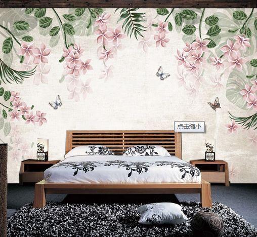 3D Foglie, fiori 30 Parete Murale Carta da parati immagine sfondo muro stampa
