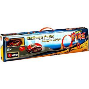 Kinderrennbahnen 1 Auto 1:43 18-30069 Dependable Performance Bburago Spur Challenge Series Single Loop Street Fire