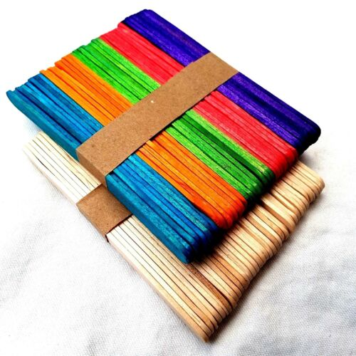 Lollipop Sticks Natural Wooden or Colour Lollypop Lolli Lolly Stick Art /& Crafts