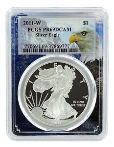 2011-W-1oz-Silver-Eagle-Proof-PCGS-PR69-DCAM-Eagle-Frame