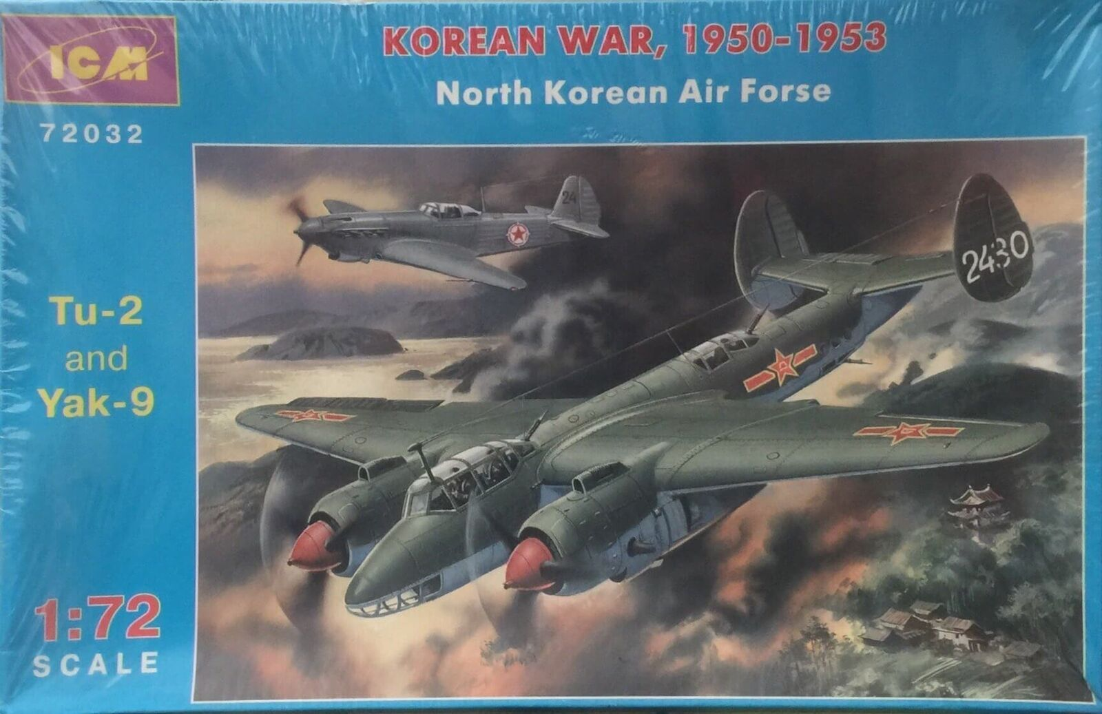 ICM Korean War 1950-1953 Tu-2 and Yak-9 Yak-9 Yak-9 Ref 72032 Escala 1/72 1981ca