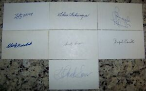 Lefty-O-039-Doul-Brooks-Robinson-Coveleski-Signed-Baseball-Index-Cards-JSA-AH-LOA