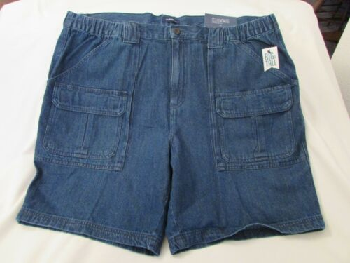 "Denim Blue Cargo Shorts Side Elastic Men/'s /""Croft/&Barrow/"" B/&T Size 48"