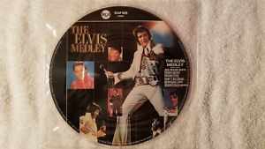 ELVIS-PRESLEY-Medley-Jailhouse-Rock-7-034-PICTURE-DISC-Vinyl-UK-Single-45-MINT