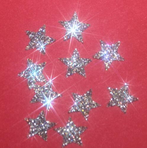 30 étoiles MULTICOLOR 1cmFlex thermocollant GLITTER MULTICOLOR hotfix