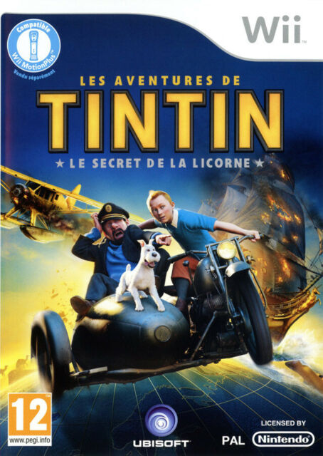TINTIN LE SECRET DE LA LICORNE / NINTENDO Wii / NEUF SOUS BLISTER D'ORIGINE / VF