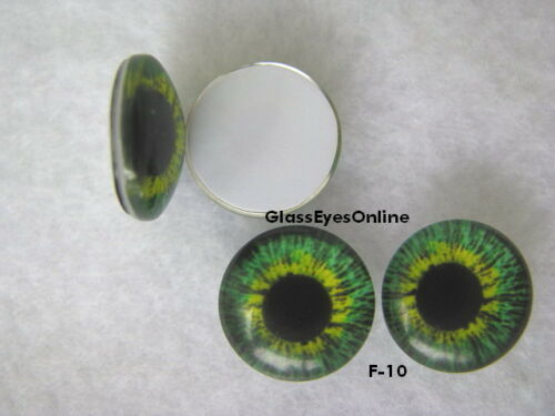 Crafts CAB-F Sculpture Jewelry 10 PAIR 8mm to 14mm Glass Cabochon Eyes Dolls