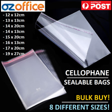 """Plastic Bag 305x405mm 38um = 12x16"""" Crystal Clear PP Cello Pack-100"""