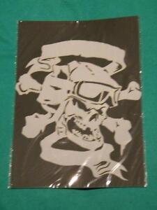 War-Pilot-skull-Mylar-reusable-stencil-10-mils-for-Airbrush-design-art-tattoo
