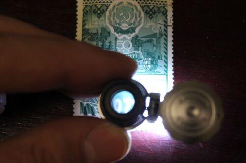 Mini 60x Adjustable Focus Microscope Magnifier w// 2 LED Light Coin Grading Loupe