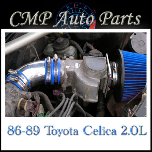 BLUE AIR INTAKE SYSTEMS FIT 1986-1989 TOYOTA CELICA 2.0 2.0L 4-CYL NON-TURBO