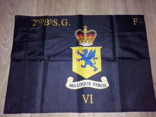 Scots guards 2nd battalion F company colours flag