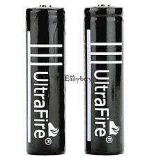 2x 6000mAh Black 18650  3.7volt LI-ION Rechargeable Battery for UltraFire  EY6E