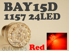 2x BAY15D 1157 24 LED 12V RED Car Brake Turn Stop Light Lamp Bulb  Globes Bulbs