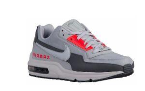NEW NIKE AIR MAX LTD Shoes 90 95 98 White Dark Wolf Gray Crimson 895484-003 c1