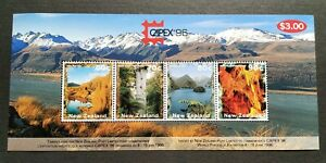 1996-New-Zealand-Toronto-CAPEX-Stamp-Exhibition-Scenery-Mountain-Lake-MS-Mint-NH
