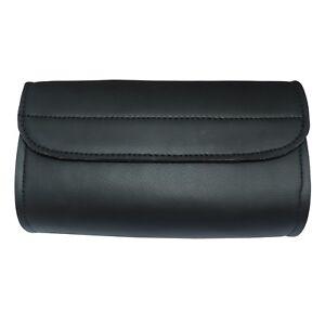 Motorbike Synthetic Leather Windshield Storage Tool bag with Hook & Loop Closure