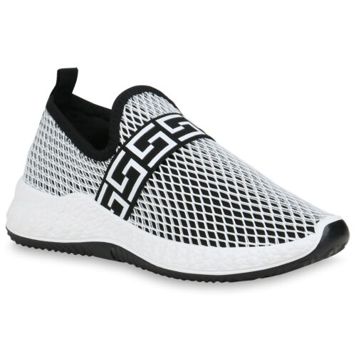 Damen Sportschuhe Slip Ons Mesh Optik Turnschuhe Fitness Sneaker 834200 Schuhe
