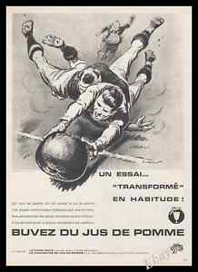 Affiche rugby vintage 1961