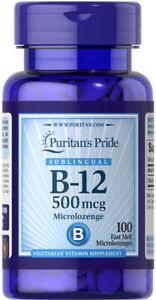 Puritan-039-s-Pride-Vitamin-B-12-500-mcg-Sublingual-100-Microlozenges