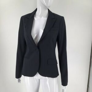 Theory-Womens-Blazer-Jacket-Blue-Wool-Blend-Long-Sleeve-Button-Up-Made-In-USA-8