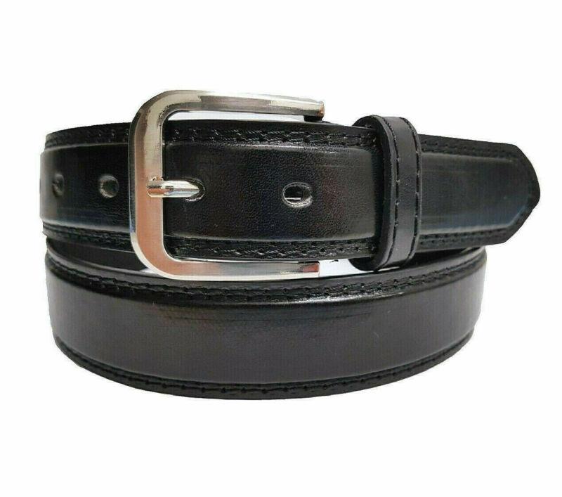 Echt Jeans-gürtel Herren Damen Anzug-gürtel Schwarz Schnalle 3 Cm Breit Neu