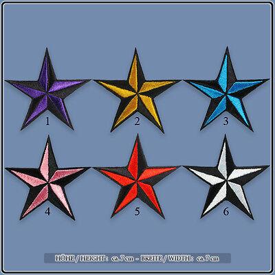 Nautical Stars Nautischer Sterne Sailor Tattoo Aufnäher Aufbügler Patch Sticker