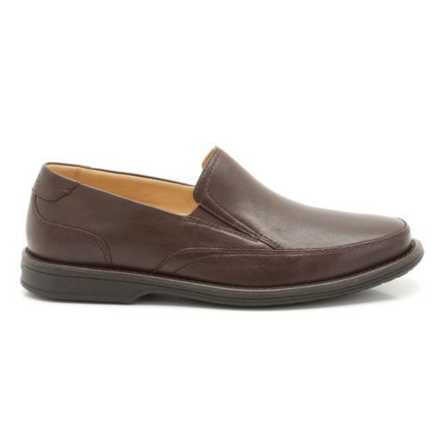 Clarks - Mens ** Shapwick House - Clarks Wide Fit ** Dark Brown Lea - Slip-on ** UK 6.5,9 8fb028
