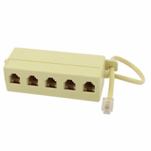 RJ11-6P4C-Male-to-5-Female-Telephone-Extension-Cable-Line-Adapter-Splitter