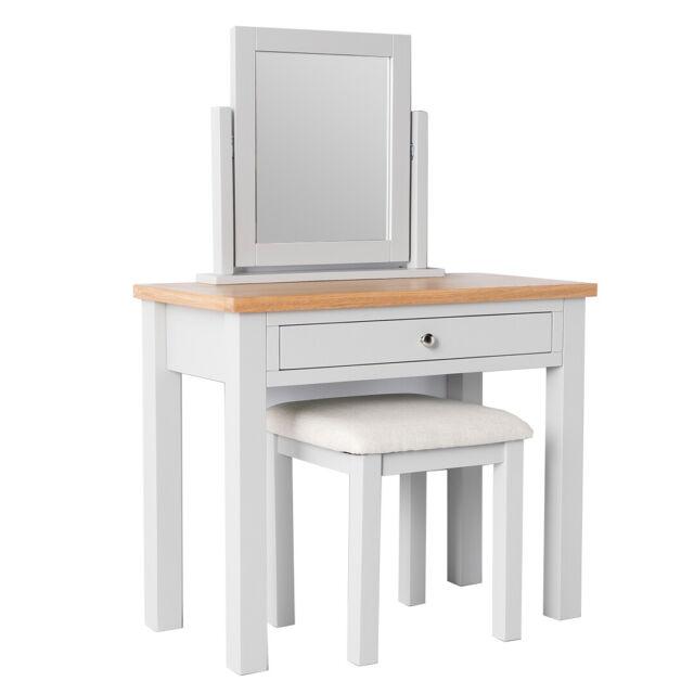 Farrow Grey Dressing Table Set Stool, Mirrored Dressing Table Set Oak