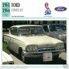 FORD CONSUL 315 1961 1964 CAR VOITURE Great Britain GRANDE BRETAGNE CARD FICHE