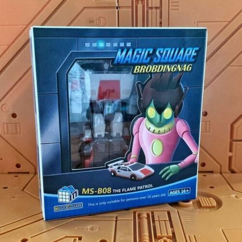 New Transformes Magic Squaer TOYS MS-B08 the Flame patrol Red Alert In Stock